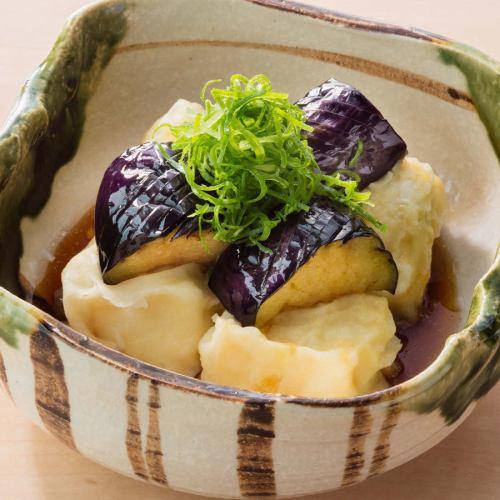 ■揚げなすと豆腐のポン酢かけ