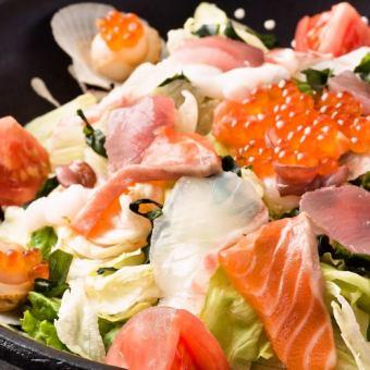 ■海の恵み 海鮮サラダ~うにドレッシング仕立て~