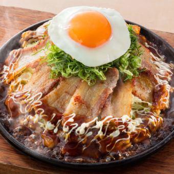■肉好きの豚玉お好み (肉100g)
