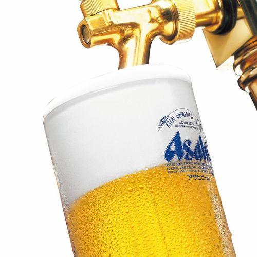 ビールは大人気のアサヒスーパードライ!