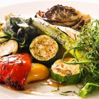 季節の焼き野菜盛り合わせ