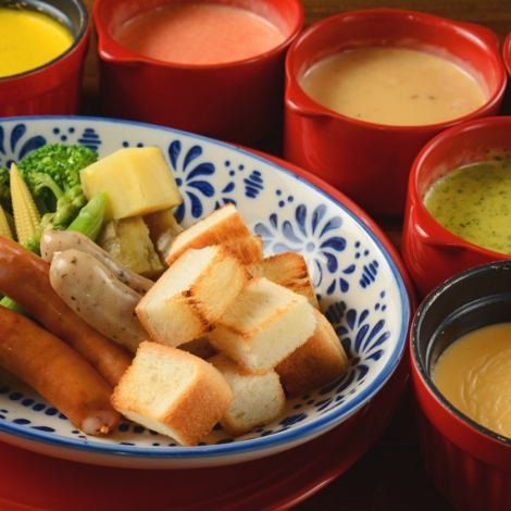 "A total of 6 types !! voatcafe's ""Choice of Cheese Fondue"" roasted sweet emergence!"