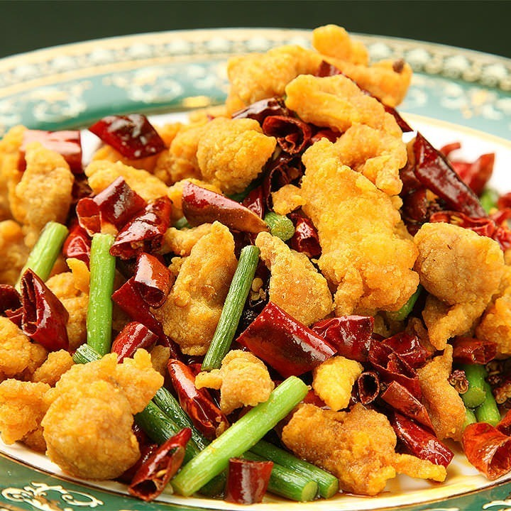 Fried cartilage spicy fried fish