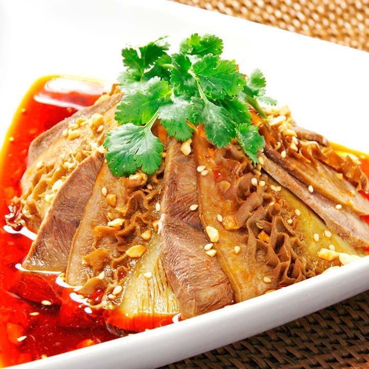 ハチノスと牛肉のピリ辛冷菜