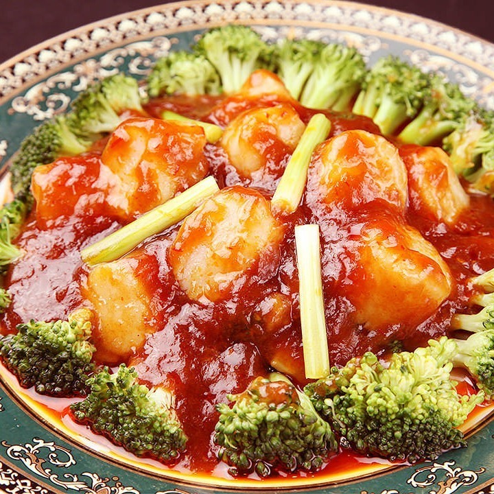 XO sauce with scallops and vegetables