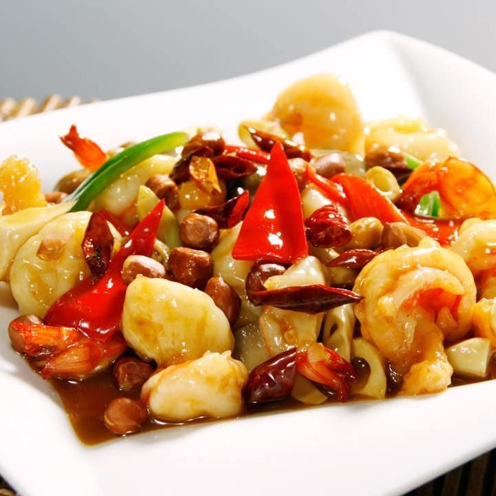 Stir-fried shrimp cashew nuts