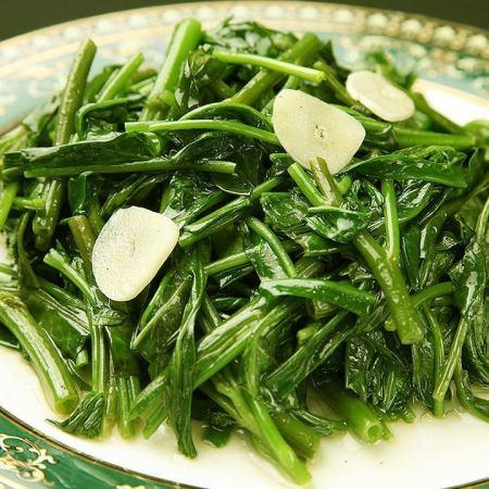 空芯菜とニンニク炒め