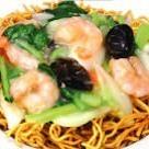 Seafood fried noodles