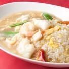 Seafood bean paste fried rice