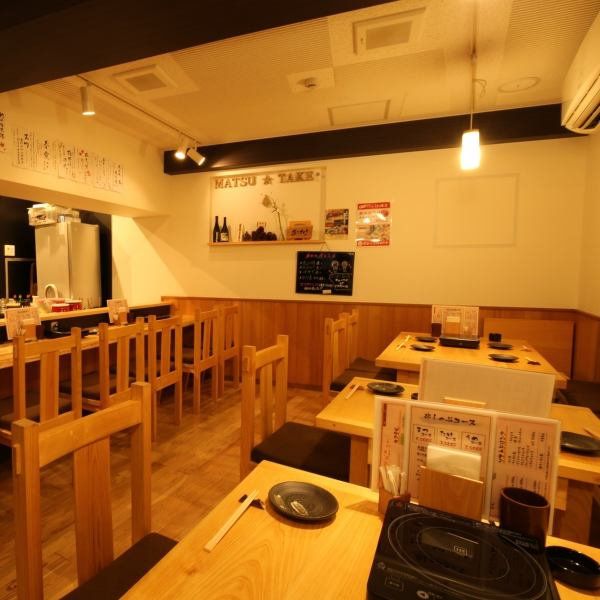 Counter seats and table seats are available in the store.The atmosphere that you can use even important scenes such as date and anniversary from one person is in place.Please spend a warm and relaxing time at maketime ☆
