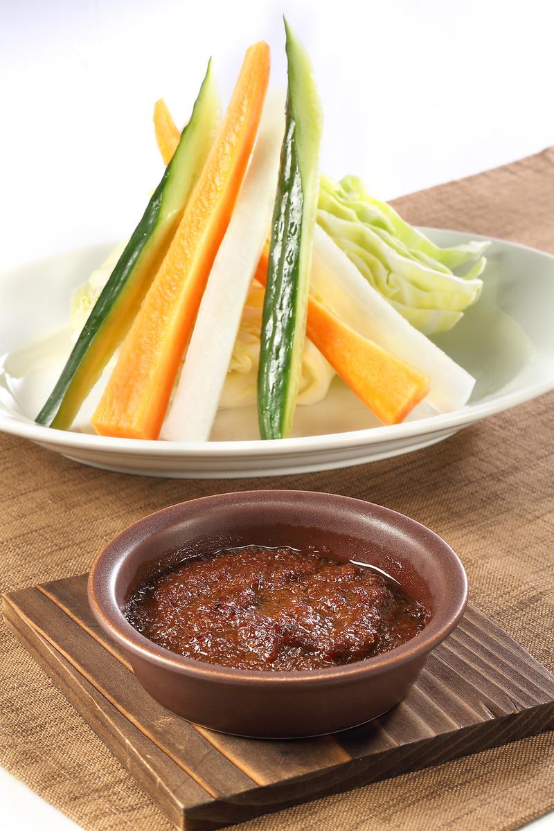 Stick vegetables Bagna · miso · cauda