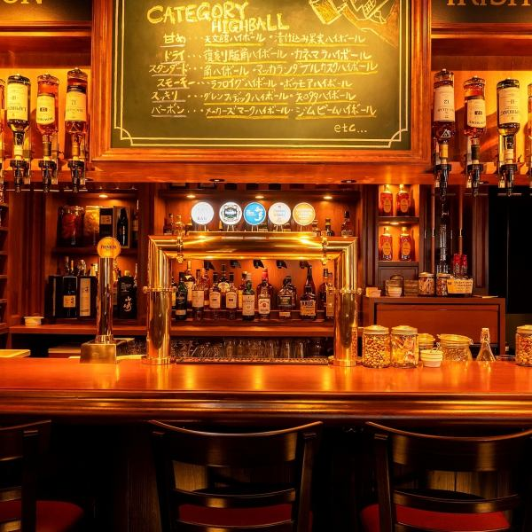 【Authentic but casual bar with nori】 The inside of the atmosphere with nori is a space prepared for adults who like highballs.I am particular about the details of the interior, and comfort is also outstanding.