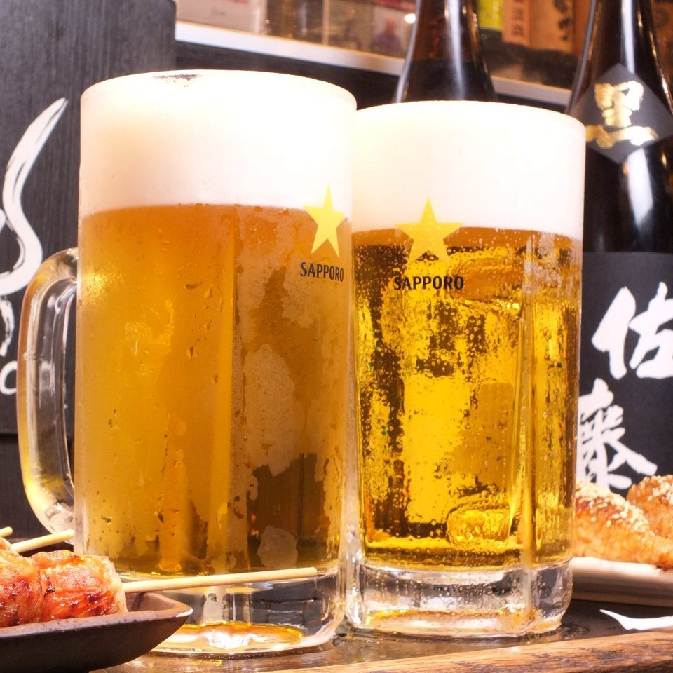 啤酒是很棒的串烧,你可以尽情地喝★