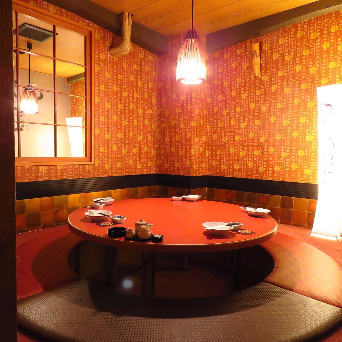 珍しい円卓掘りごたつ個室です!