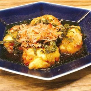 Agedashi纳豆豆腐