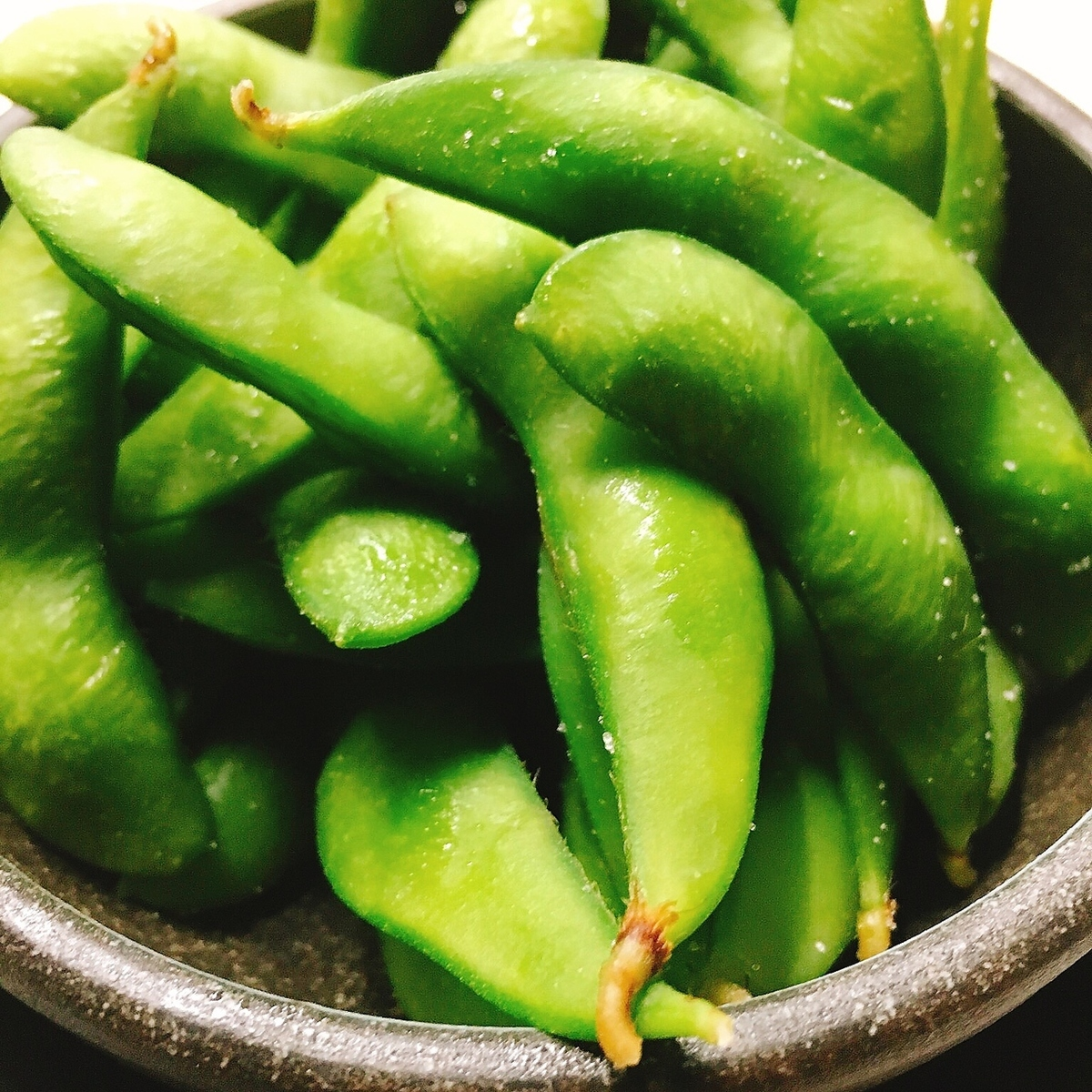 Boiled and edamame