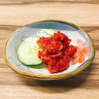 Chanja (cod stomach kimchi)