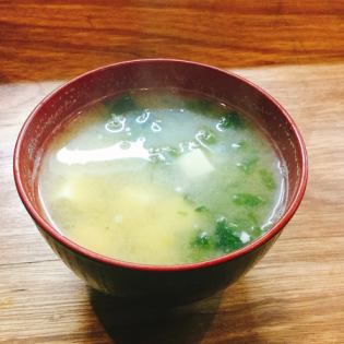 Tofu and Miso soup of Aoza