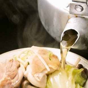 Okay? ☆ ☆ 【Amakusa the Great Kettle Pot】 + 100 min [Drink] with Kettle Nabe Course 5000 yen → 4000 yen