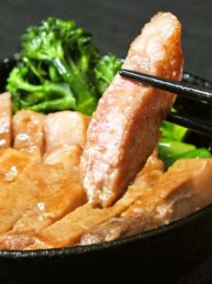Hoshi pork loin steak ~ with wasabi and salt ~