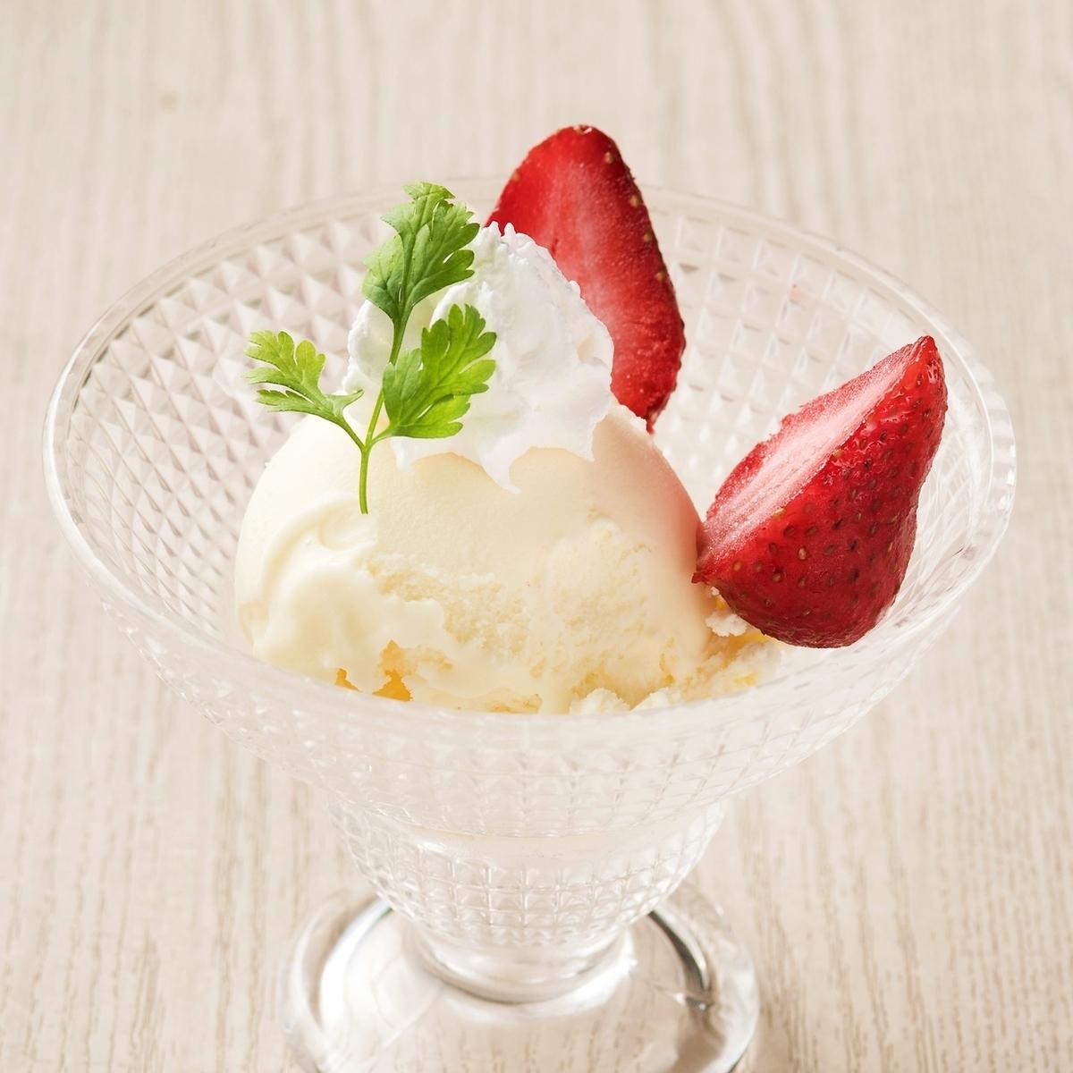 Dairy vanilla ice cream