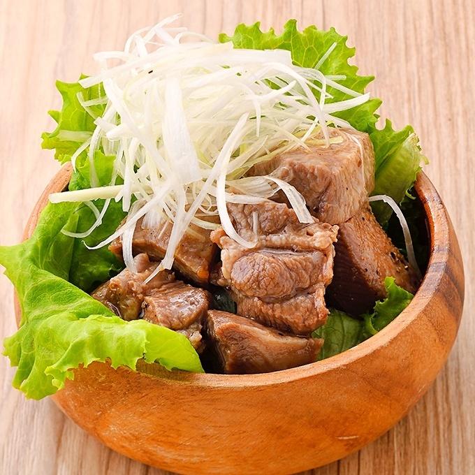 Meat-fried salad