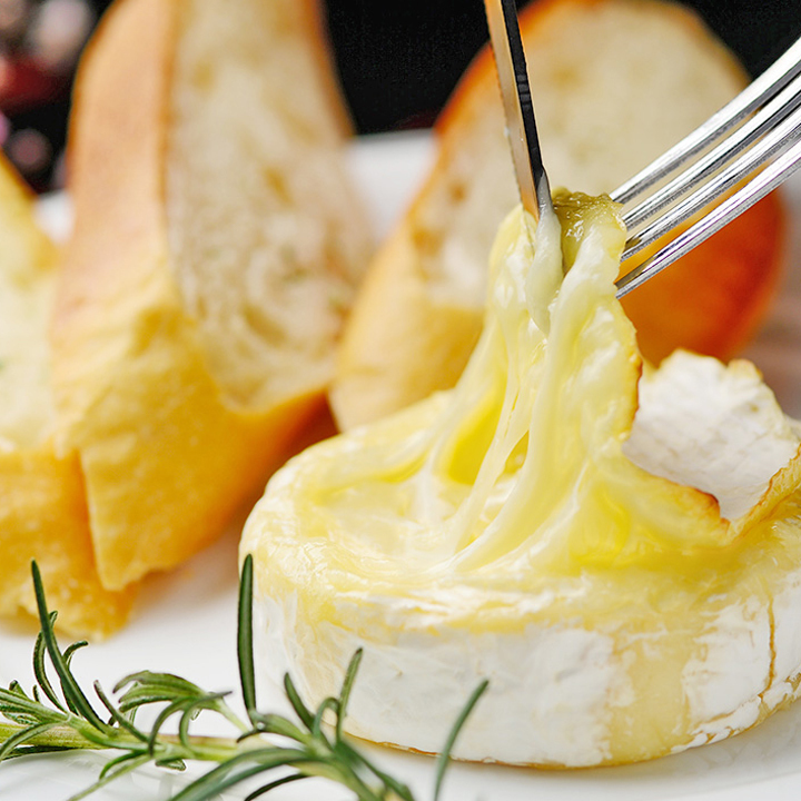 Roasted camembert cheese ~ basketed ~