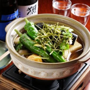 朴の木豆腐 きの子餡かけ