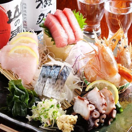 Main course of sashimi main course