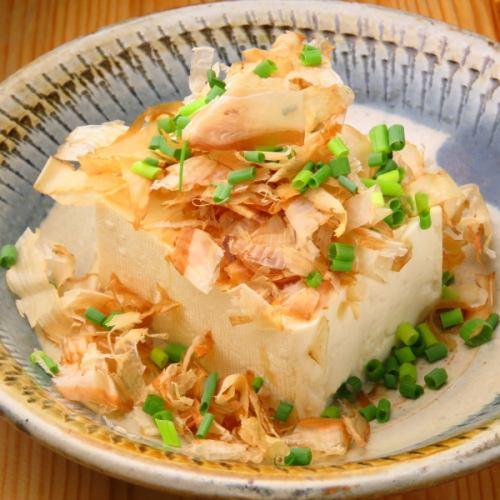 島豆腐のやっこ