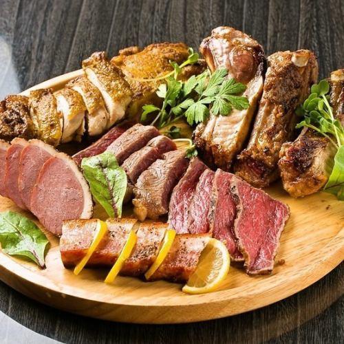 本日のお肉3種盛り