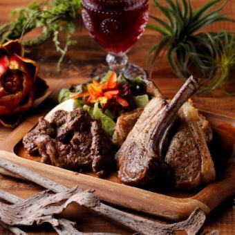 本日のお肉3種盛りプレート