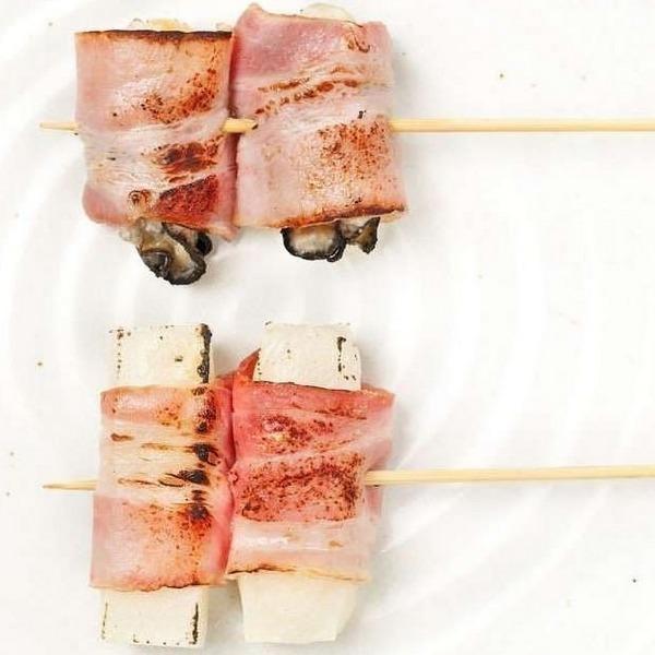 【ベーコン巻き串】餅ベーコン巻き/プチトマトベーコン焼き/チーズベーコン巻き