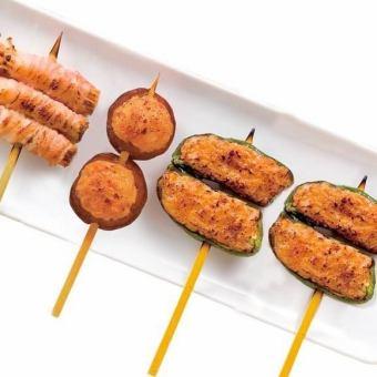 【肉詰め串】ピーマン肉詰め