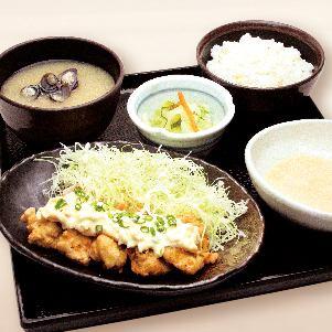 【とろろ定食】伊達鶏のチキン南蛮タルタル定食