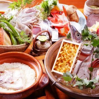 〈接待におすすめ〉当店名物「鯛めし」・海鮮+お肉も堪能できる!全8品『匠コース』お料理のみ