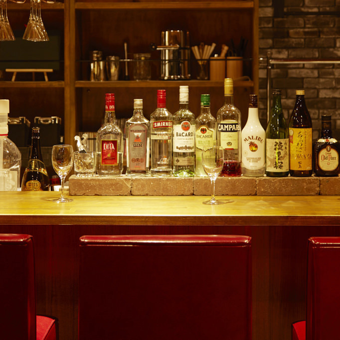 We have a chic atmosphere BAR counter.