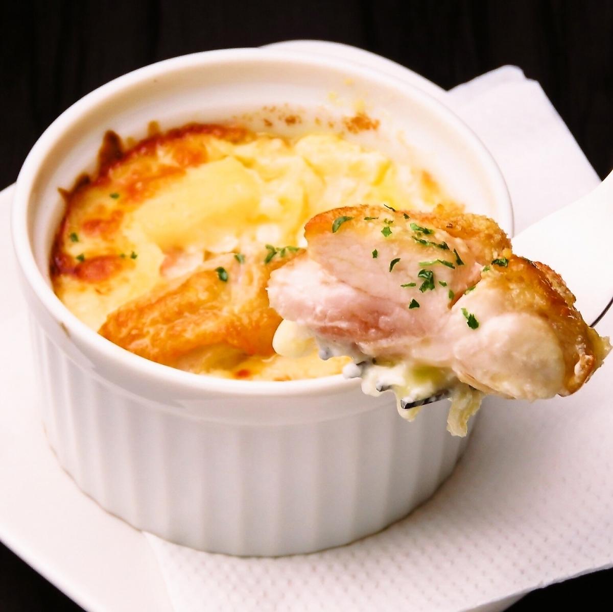 Chicken gratin