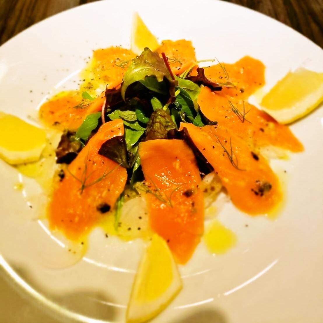 Prelig salmon fresh carpaccio