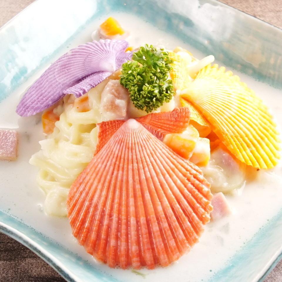 Mermaid clam chowder pasta
