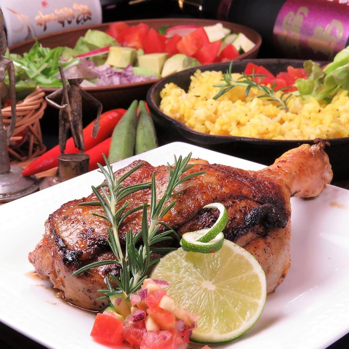 아프리카 요리를 일본으로 ♪ 맛있는 고기 요리를 다양하게 준비!