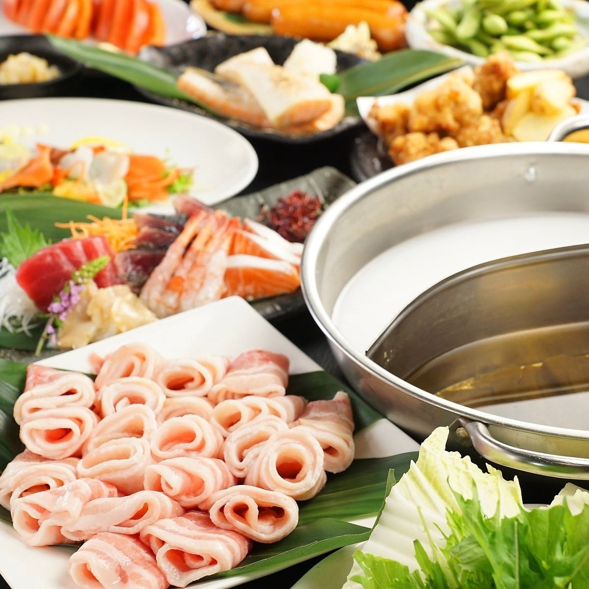 With sweet shabu ♪ Eat all you can drink 3H 3200 yen (tax not included) ~ / 2H 2900 yen (tax excluded) ◎