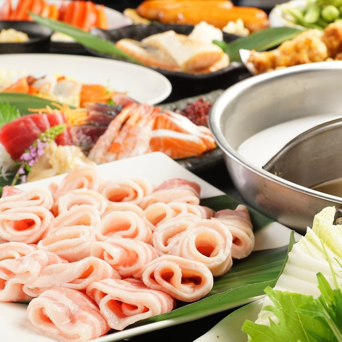 Choose carefully selected shabu-shabu + 140 kinds premiere eating and drinking as much as you want ★ 3900 yen (excluding tax)