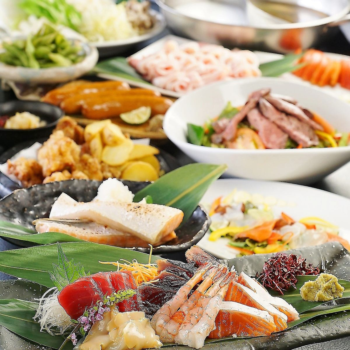 All-you-can-eat pork shabu-shabu & 100 kinds of all-you-can-drink 2 hours 2900 yen (excluding tax) ~ ♪