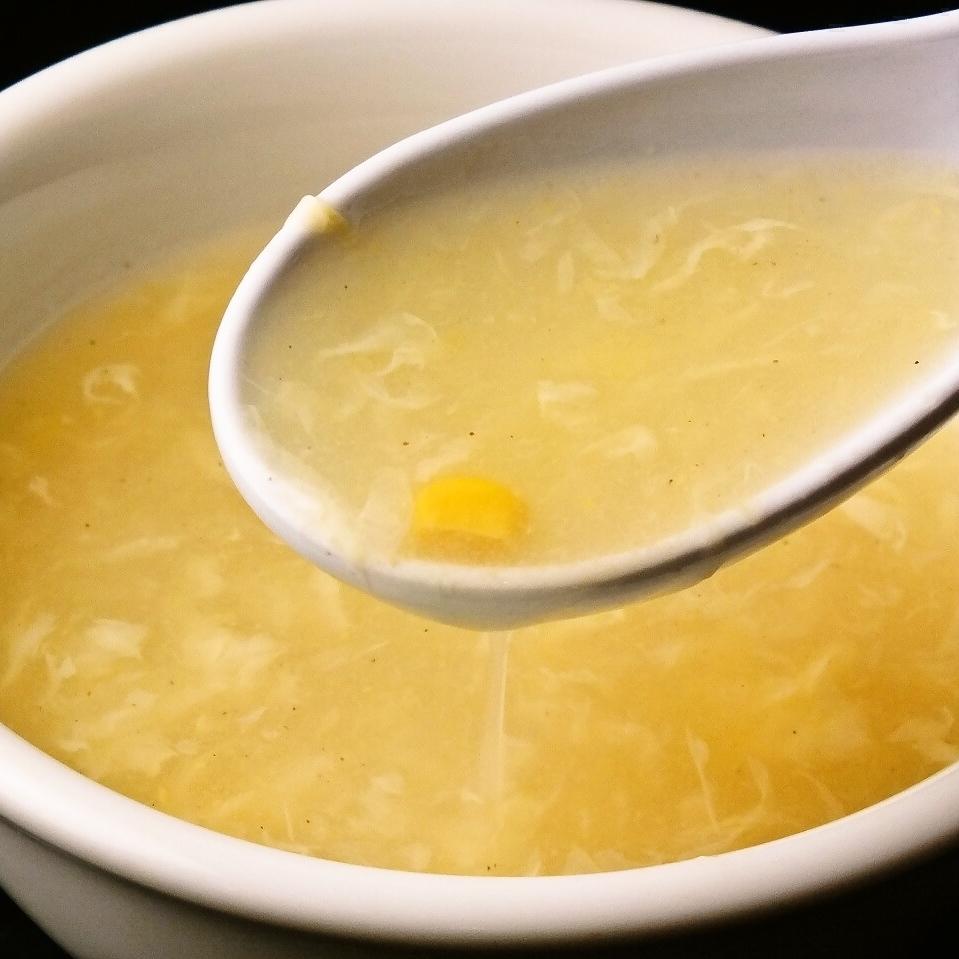 鶏肉入りおかゆ/味付けおかゆ/コーンスープ