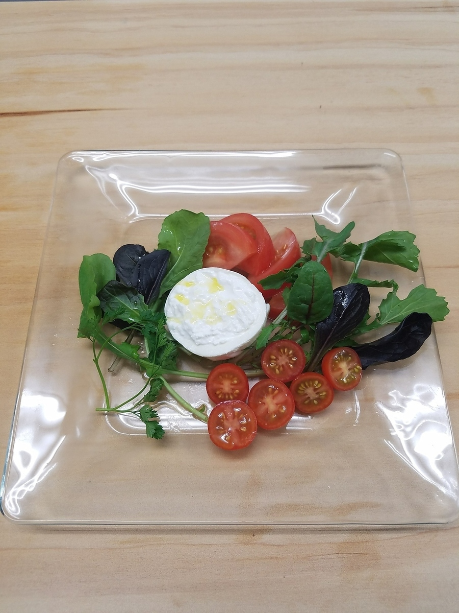Phantom cheese and tomato salad