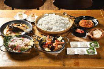 We can share it with everyone 【sealas enjoying course (7 items) 3500 yen ★ only cooking