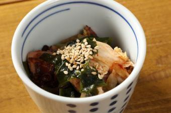 章魚和大和海帶泡菜