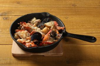 烤omal蝦和海鮮快樂梅洛