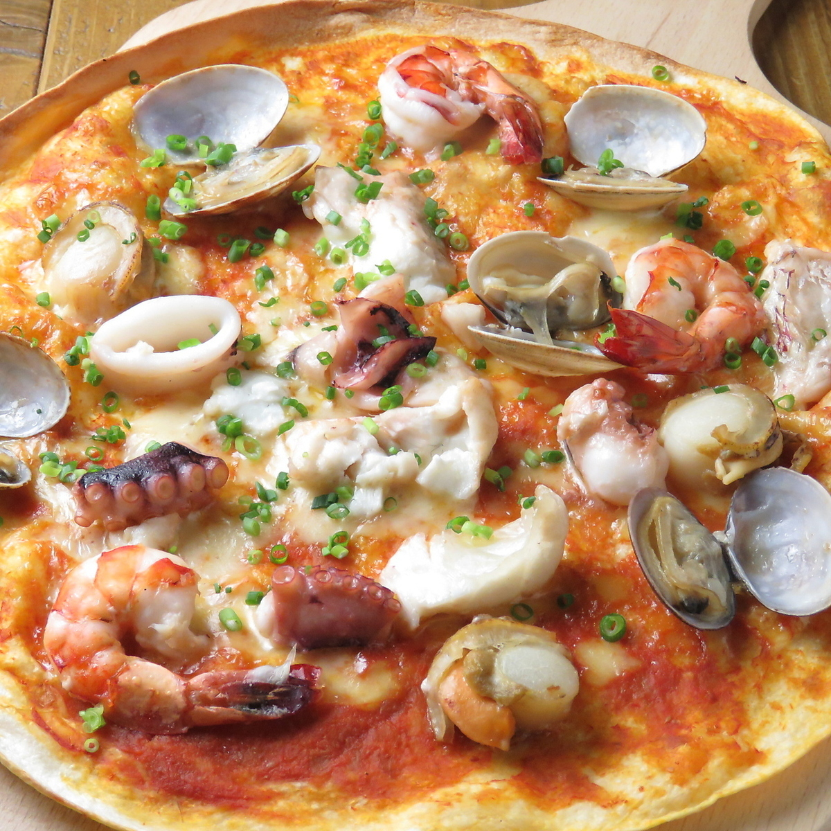 Fisherman's seafood pizza